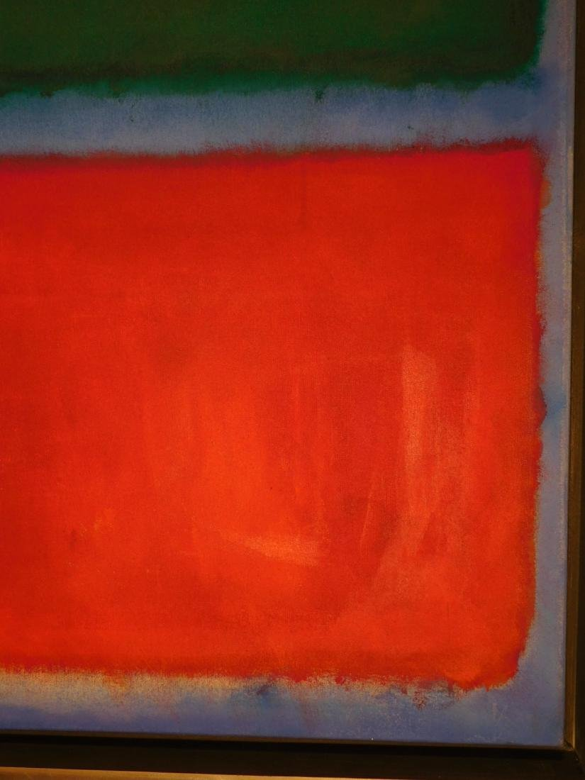 Mark Rothko: Color Field (Red, Blue, Green) - 6
