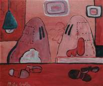 Manner of Philip Guston: Hooded Figures with Shoes