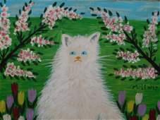 Maud Lewis: White Cat