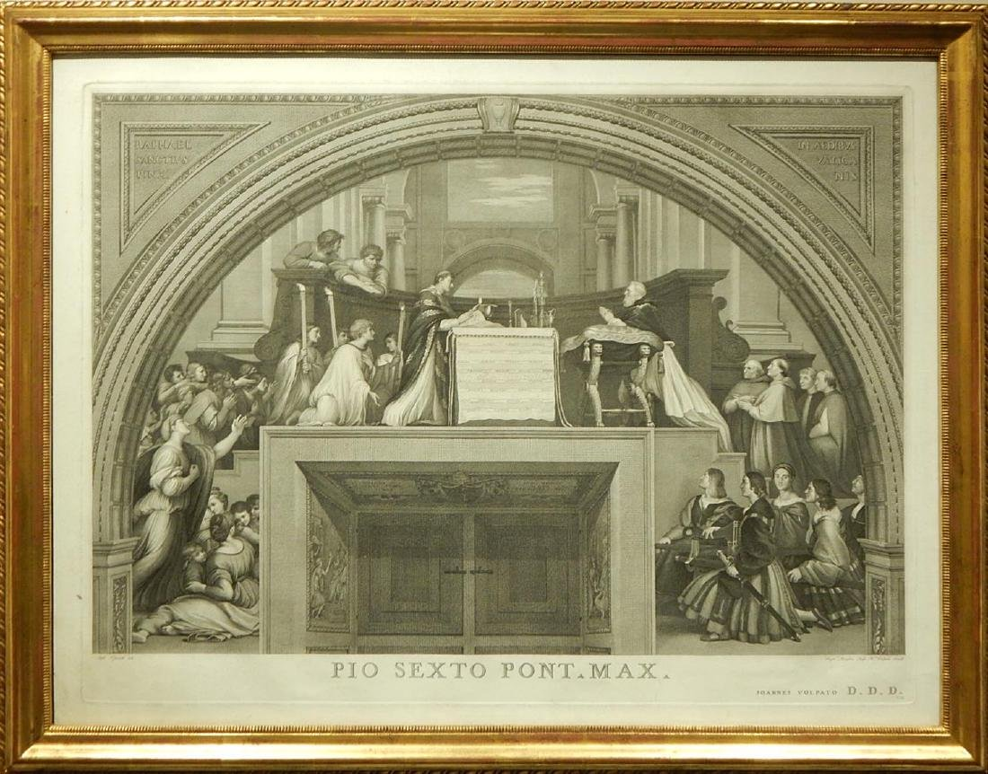 Joannes Volpato after Raphael: The Mass of Bolsena