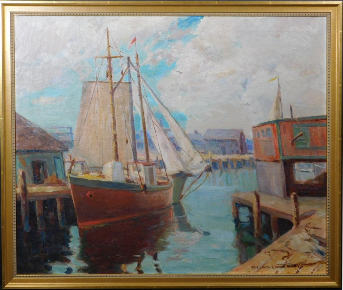 William Cornell Carney: Boat at the Dock