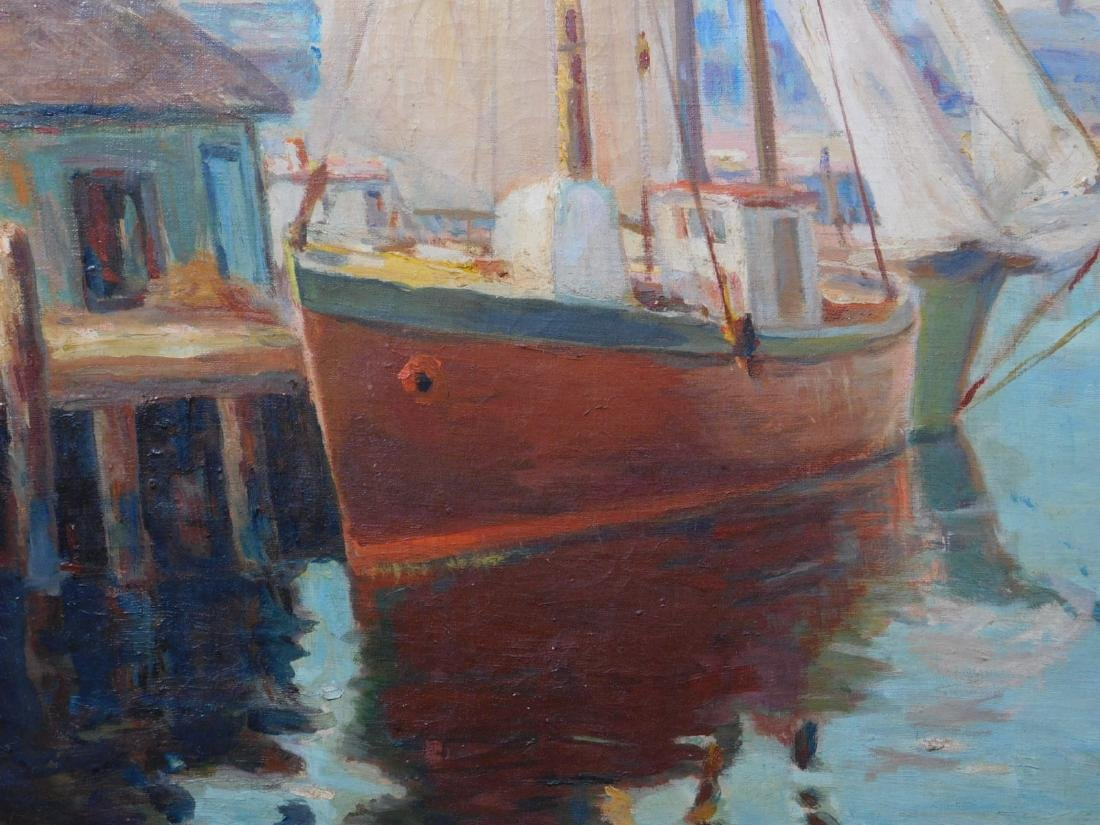 William Cornell Carney: Boat at the Dock - 7