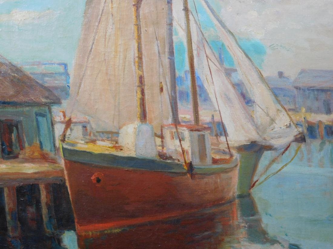 William Cornell Carney: Boat at the Dock - 8