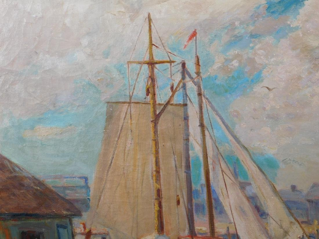 William Cornell Carney: Boat at the Dock - 9
