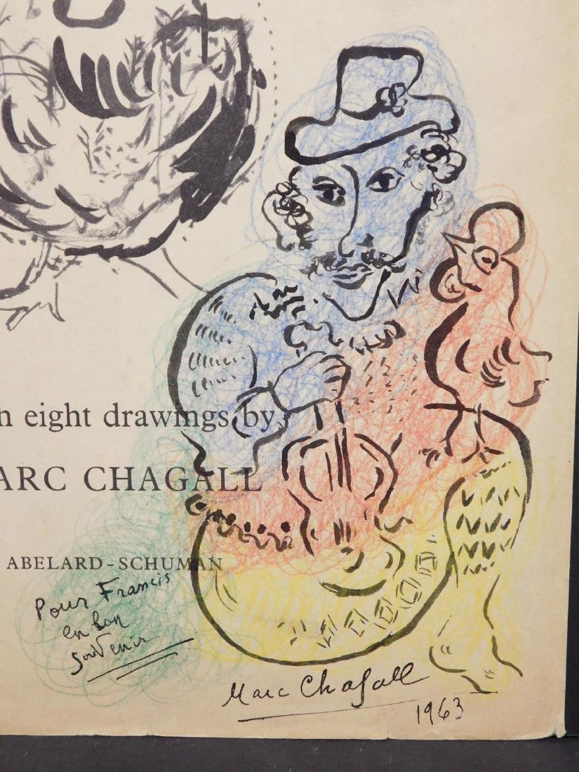 Marc Chagall: 1963 Drawing of a Violinist - 3