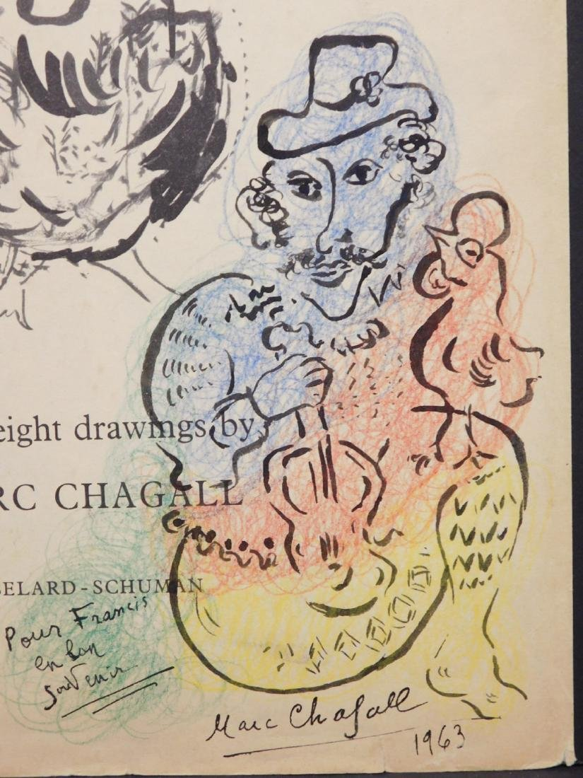Marc Chagall: 1963 Drawing of a Violinist - 7