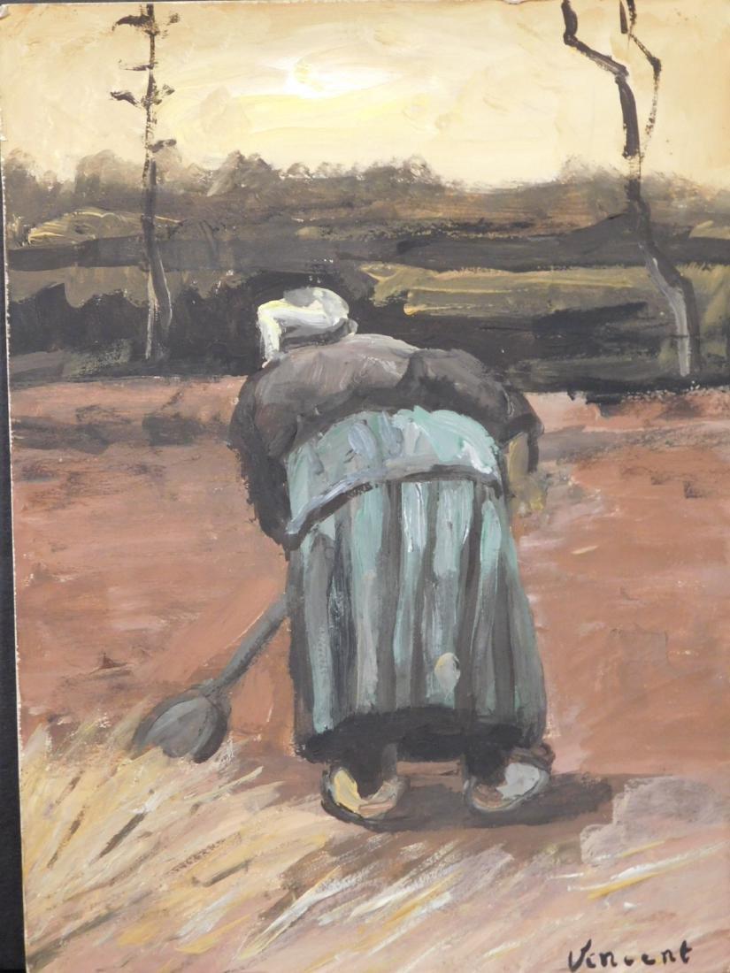 Vincent Van Gogh: Peasant Woman Digging - 3