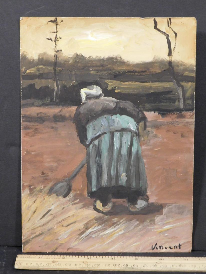 Vincent Van Gogh: Peasant Woman Digging - 4