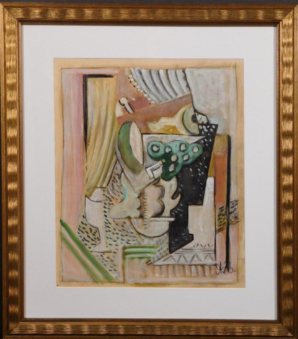 Russian 1930s Cubist Gouache