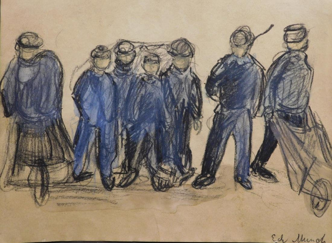 Edvard Munch (1863-1944): Group Figure Study