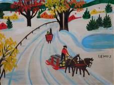Maud Lewis: Winter Sleighs