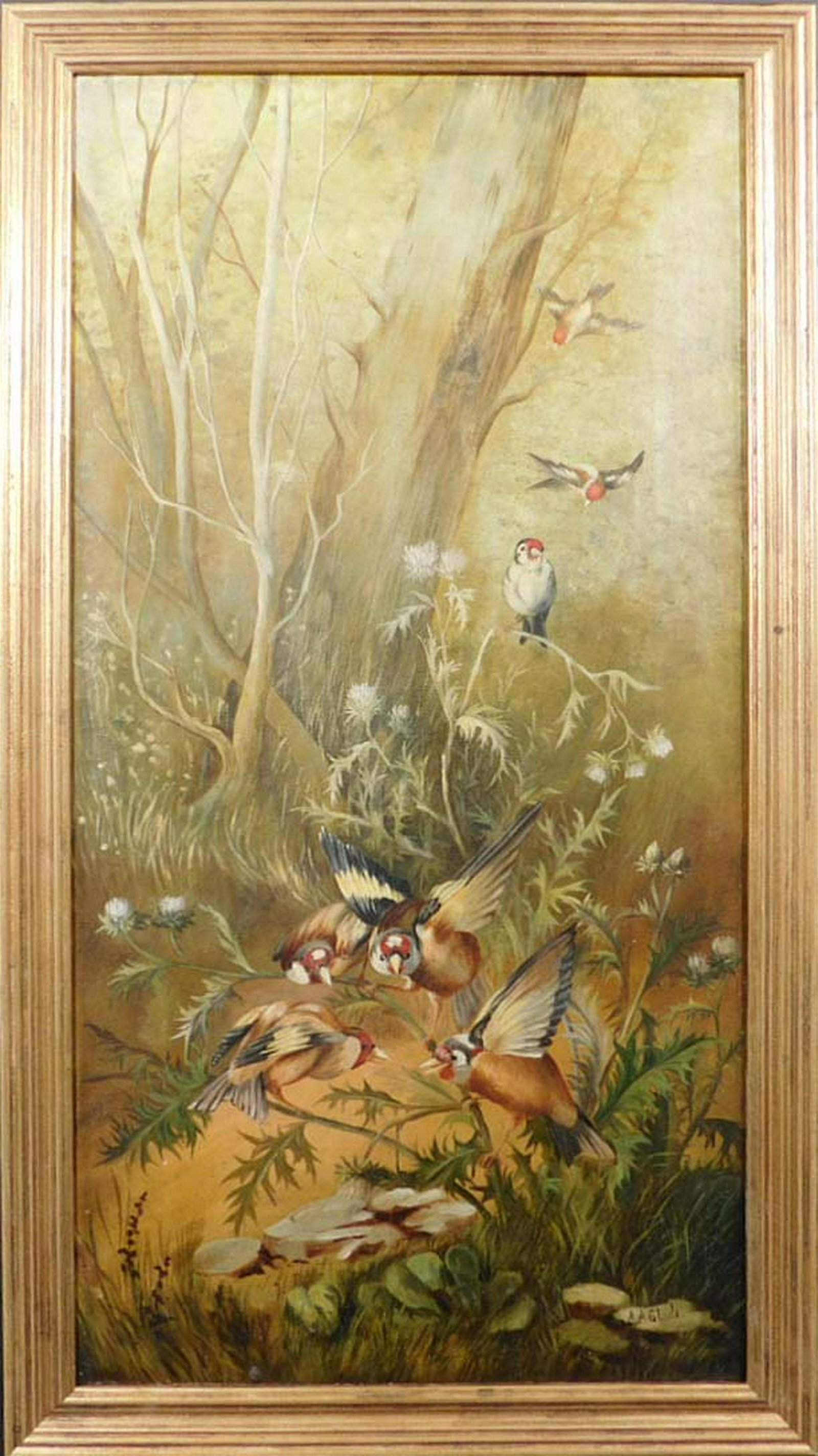 A. A. Slade: British Goldfinches in the Woods
