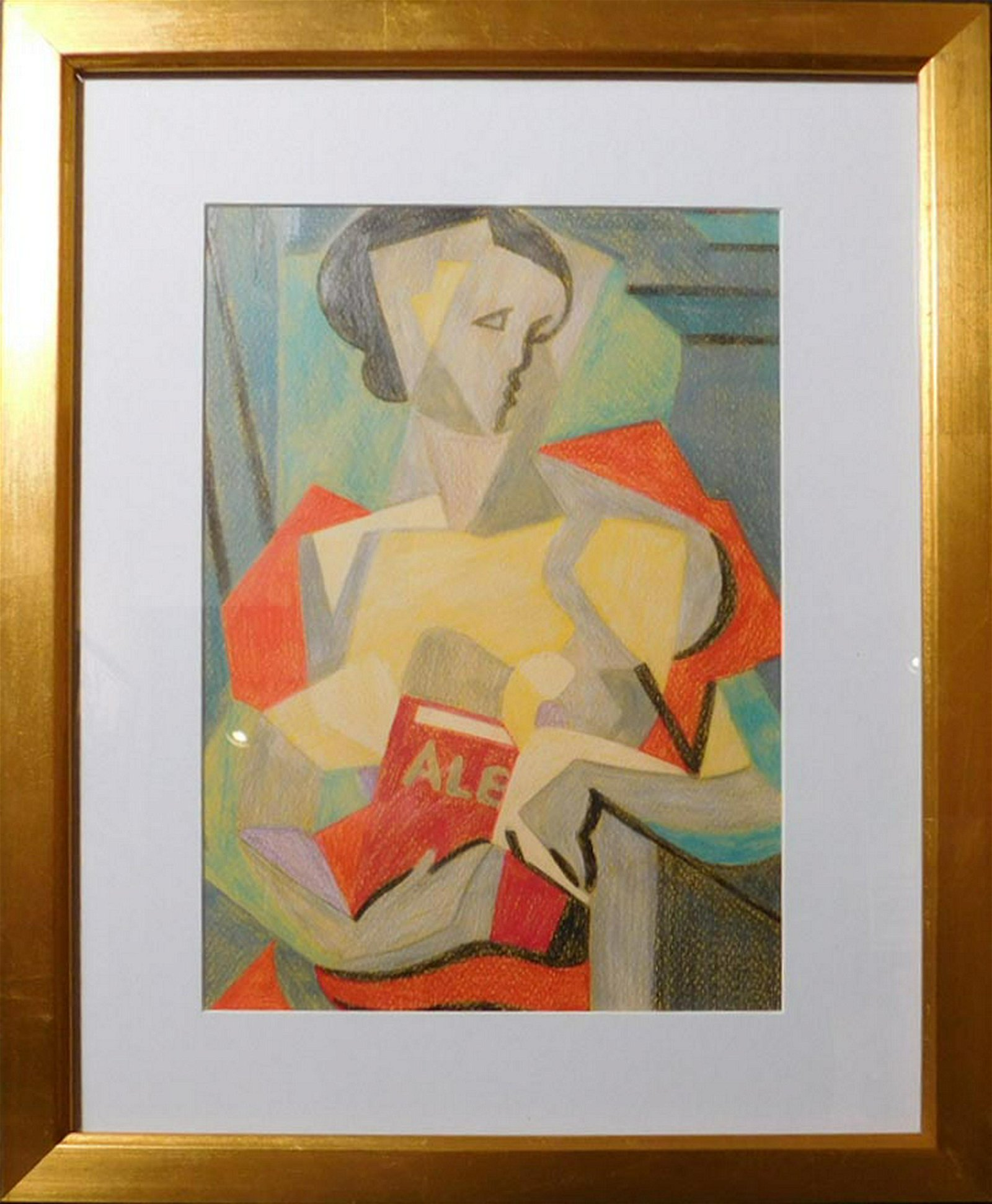 After Jean Metzinger: Woman with Book