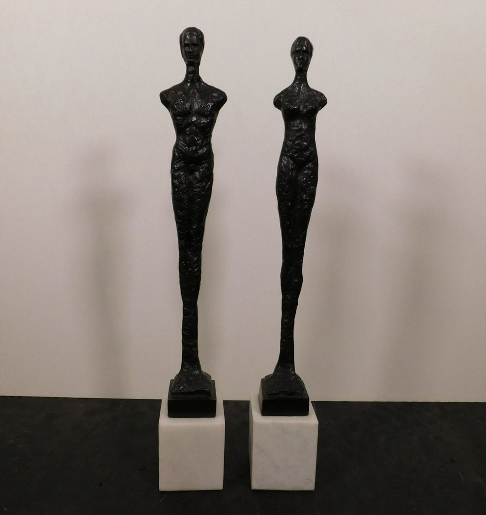 Pair of Giacometti Inspired Sculptures
