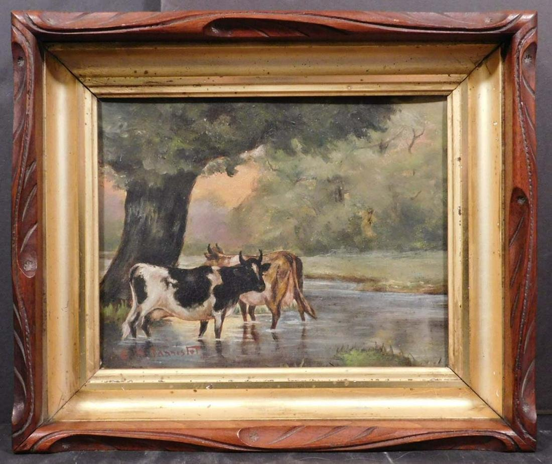 Edward Bannister: Untitled, (Cows Wading in the Water)
