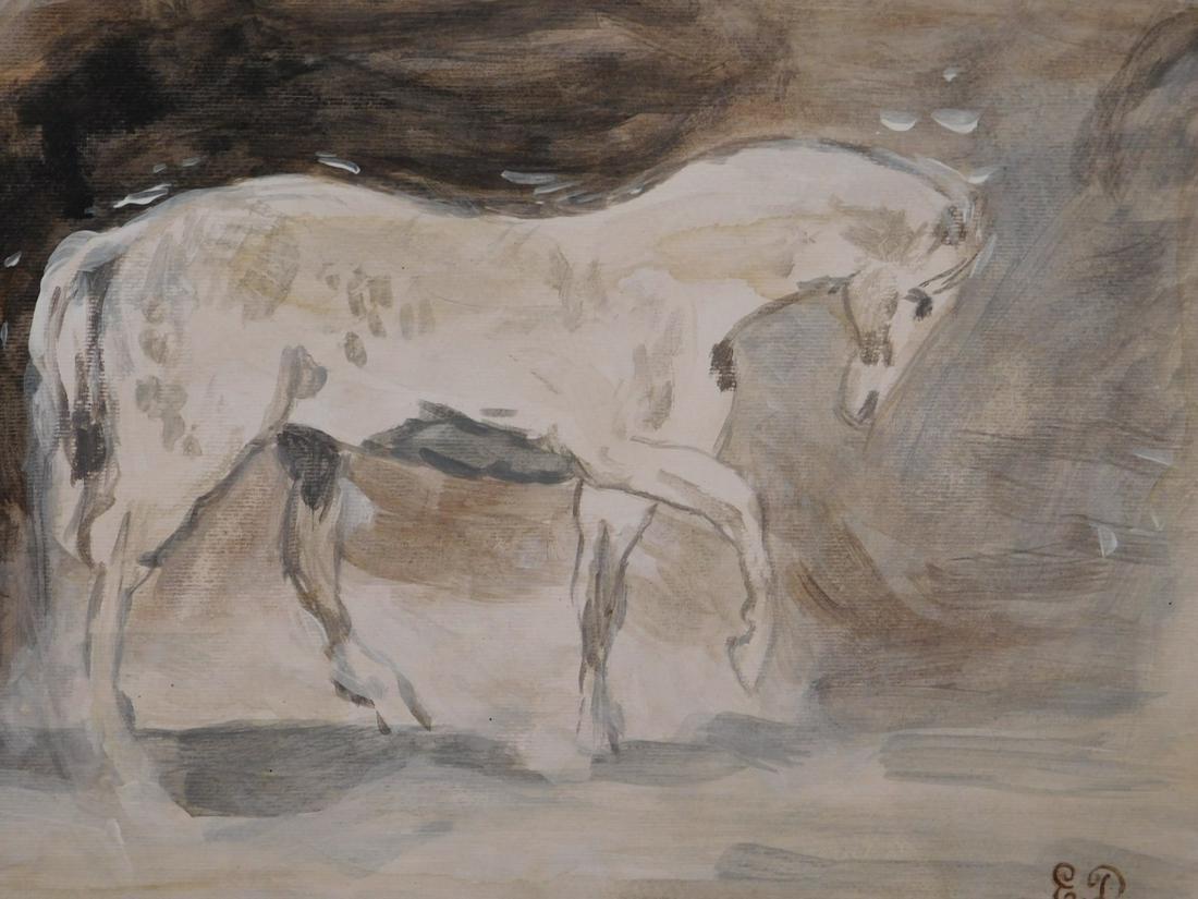 Eugene Delacroix: Study for a Horse