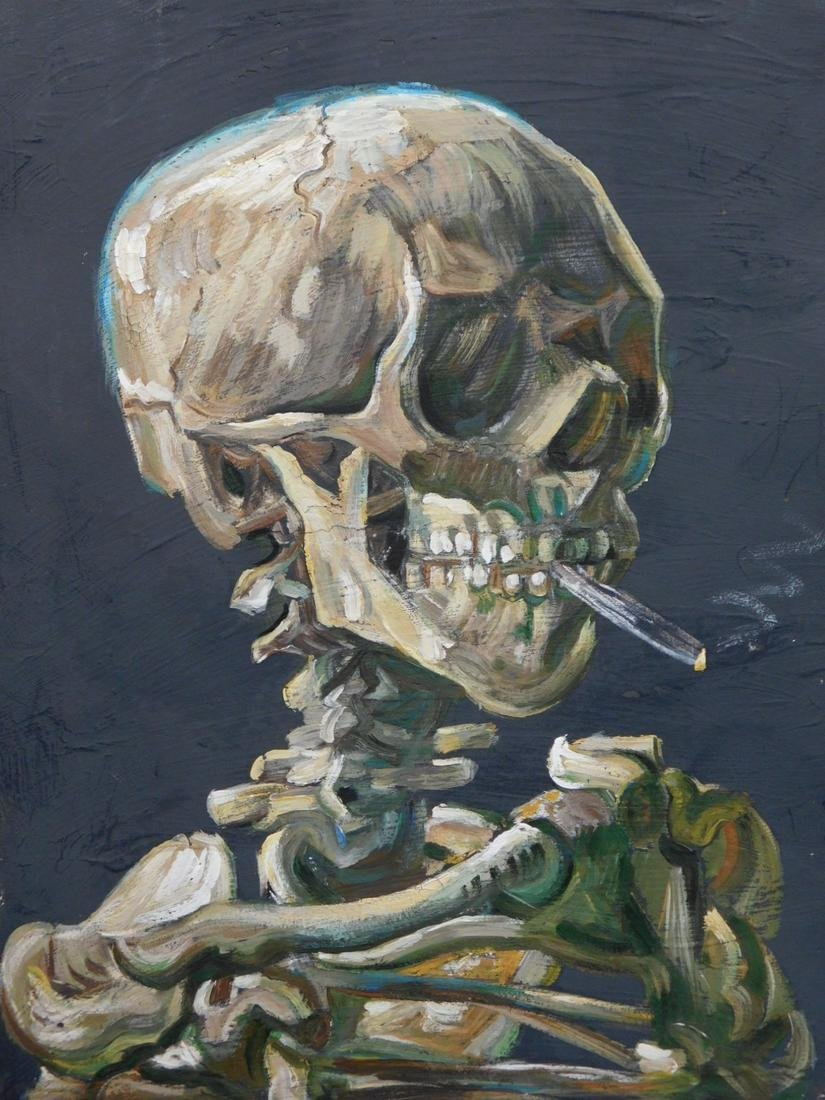 Vincent van Gogh: Skeleton Smoking