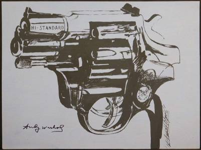 Andy Warhol: Blue Gun Study
