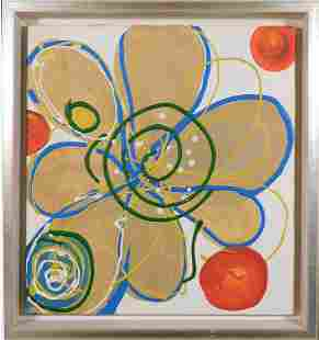 Follower of Hilma af Klint Abstract Composition gold