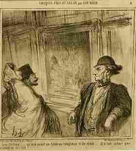 Honore Daumier Salon Cartoon