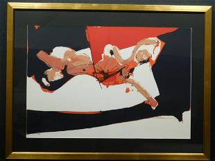 Paul Rebeyrolle Abstract Reclining Female Nude