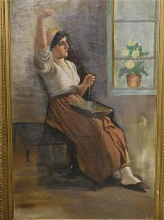 Franklin Tuttle Woman Sewing