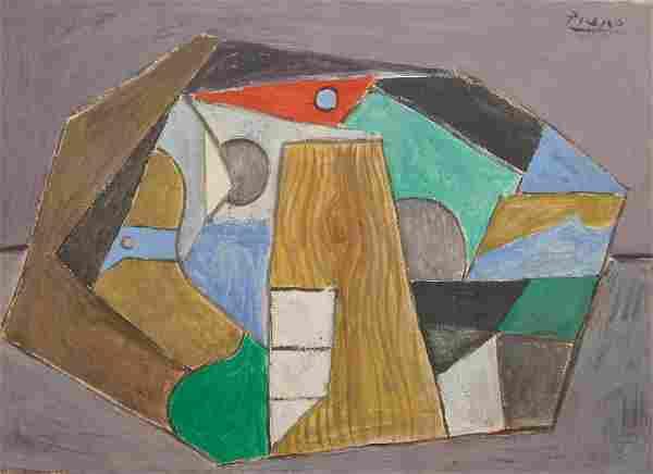 Pablo Picasso: Cubist Composition