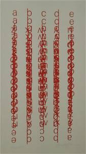 Suzanne Watzman: Red Alphabet