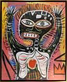 Manner of Jean Michel Basquiat: Skeletal Figure with