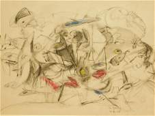 Arshile Gorky: Abstract Expressionist Sketch