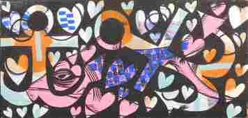 Graffiti Art (Anchors, Hearts, and Fish)