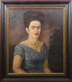 Frida Kahlo, Manner of: Self Portrait