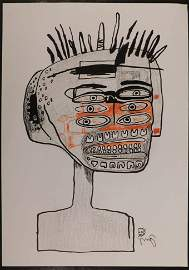 Jean-Michel Basquiat : Man with Six Eyes