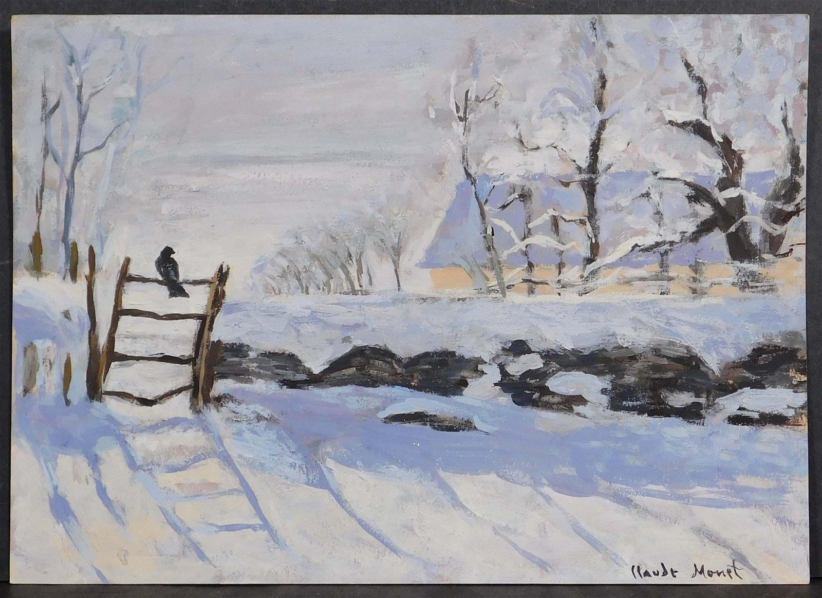 Claude Monet, Manner of:  Elster