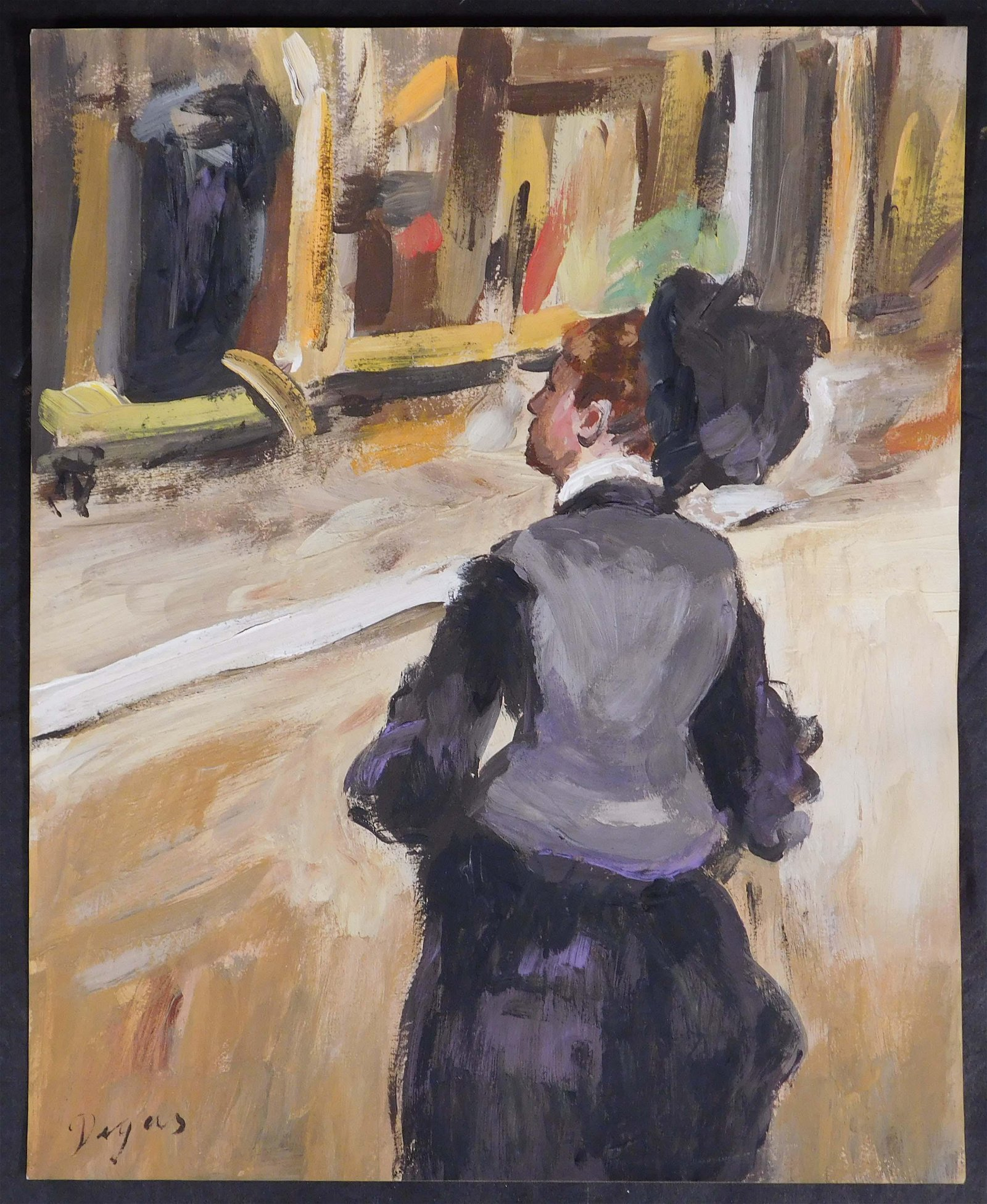 Edgar Degas, After:  Woman Viewed from Behind