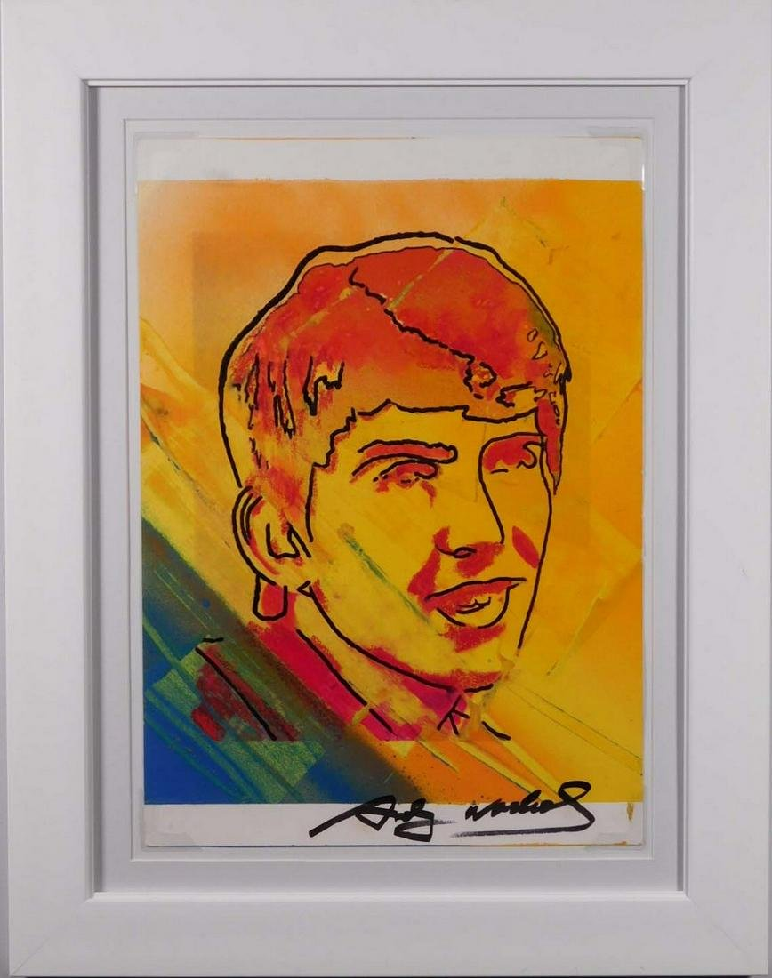 Andy Warhol Attributed: George Harrison Portrait