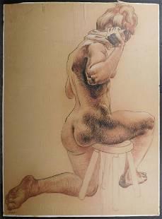 Howard Besnia Figure Study of Nude