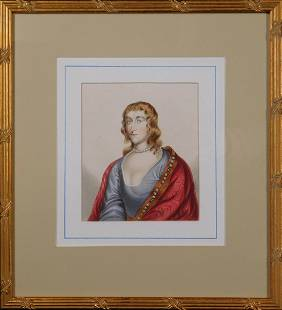 Lady of the Court Portrait Woman with Bejeweled Cloak