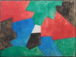 Serge Poliakoff Attributed Modernist Abstract