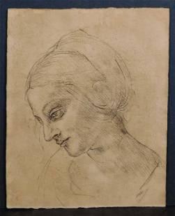 Edgar Degas Manner of Portrait