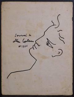Jean Cocteau Manner of Portrait of a Man