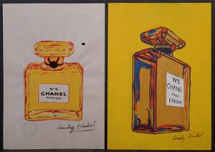 Andy Warhol Attributed Chanel Bottles