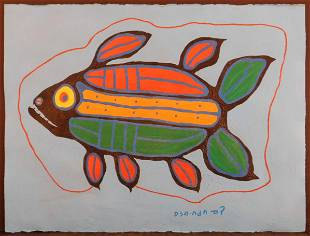 Norval Copper Thunderbird Morrisseau Attributed