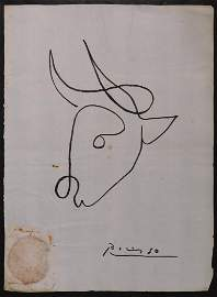 Pablo Picasso, Manner of: Bull