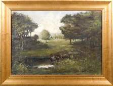 CW Ladd Early 20th Century Spring Landscape