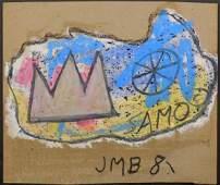 Jean-Michel Basquiat, Manner of: SAMO Oil Stick Sketch