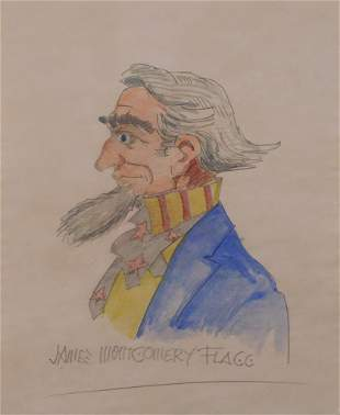 James Montgomery Flagg, Manner of: Uncle Sam Caricature