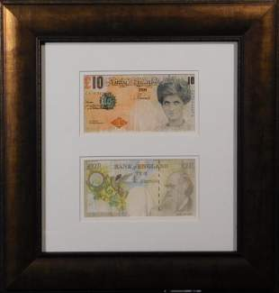 Banksy (After): Two Difaced Tenners