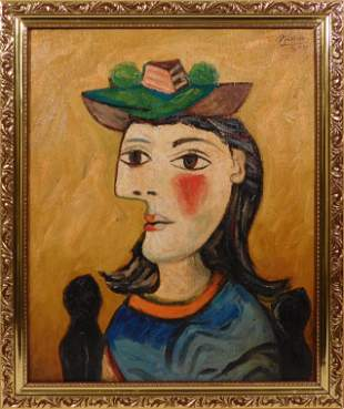 Pablo Picasso, Manner of: Portrait of a Woman Sitting
