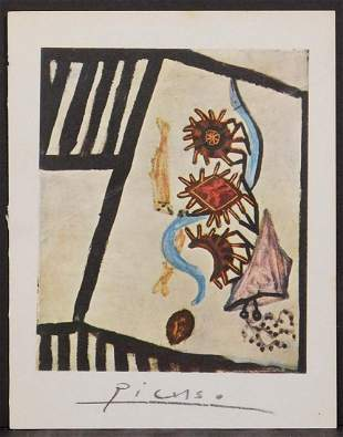 Pablo Picasso, After: Abstract Still Life